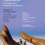 Cartel IV jornada sobre budisme a Cataluña