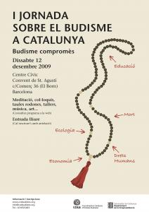 Póster I Jornada de Budisme a Catalunya