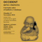 Poster II Jornada sobre Budisme a Catalunya