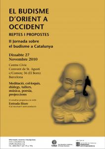 Póster II Jornada sobre Budisme a Catalunya