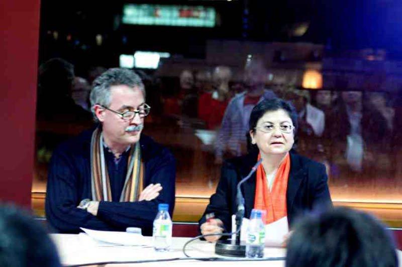 Francesc Torradeflot, director de AUDIR y Montserrat Coll, directora de Asuntos Religiosos de la Generalitat de Catalunya