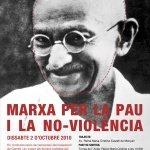 Cartell I Marxa per la pau i la no-violencia