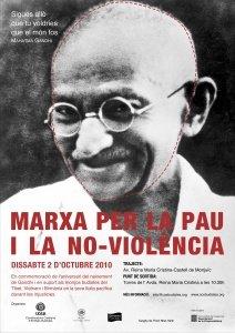 Cartell I Marxa per la pau i la no-violència