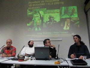 Taula drets humans - II Jornada sobre Budisme a Catalunya