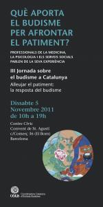 III Jornada sobre Budisme a Catalunya