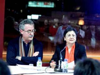 Francesc Torradeflot, director d'AUDIR i Montserrat Coll, directora d'Afers Religiosos de la Generalitat de Catalunya